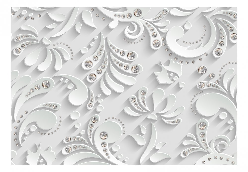 Fototapeta - Flowers with Crystals