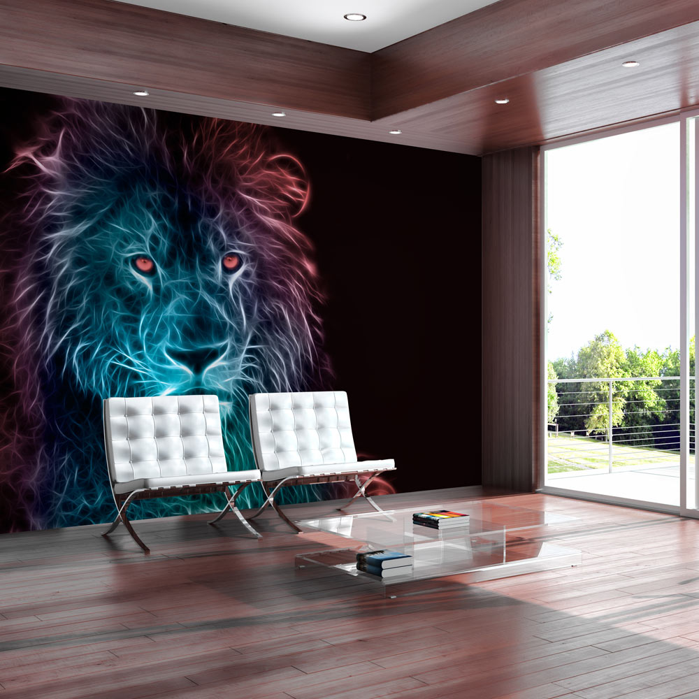 Fototapeta - Abstract lion - rainbow