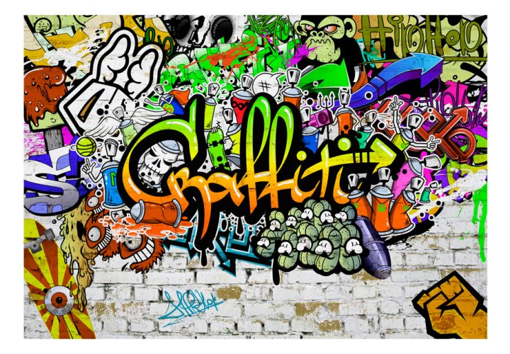 Fototapeta - Graffiti on the Wall